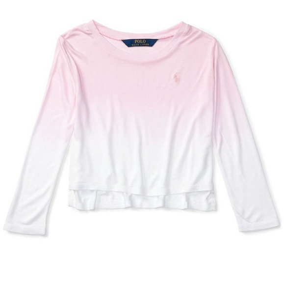 71690632 Polo by Ralph Lauren Shirts & Tops | Pink Longsleeve Polo Ombre ...